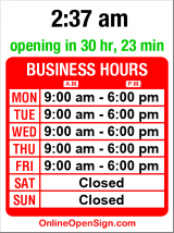 Business hours for U.S. Bank Main Branch