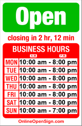 Business hours for Nike Town