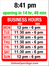 Business hours for Eco-Elements