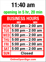 Business hours for Green Room
