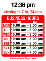 Business hours for Abercrombie & Fitch
