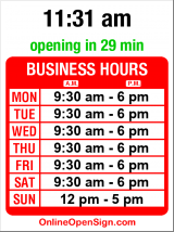 Business hours for Natureway