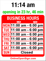 Business hours for Market Cellar Winery