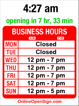 Business hours for Madame Lazonga Tattoo