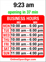 Business hours for Northwest Tribal Art