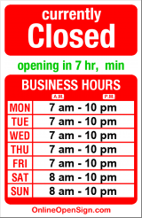Business hours for Walgreens