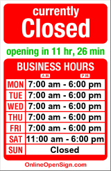 Business hours for Ancient Grounds
