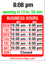 Business hours for Silberman/Brown Stationery (MOVED)