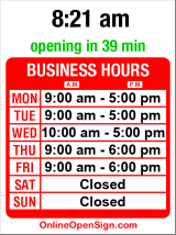 Business hours for Seattle Metropolitan C. U.