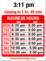 Business hours for Trabant Coffee & Chai