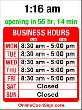 Business hours for Good Coffee Company