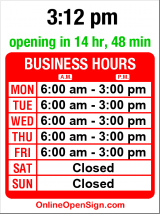 Business hours for 521 Cafe