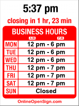 Business hours for Experience