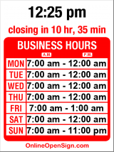 Business hours for 4th Ave Grocery & Deli