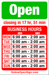 Business hours for Ralph's Grocery & Deli