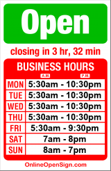 Business hours for Zum