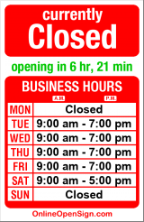 Business hours for Via Solferino