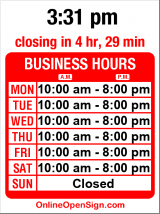 Business hours for Euphorico
