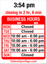 Business hours for Robin Rosell Salon