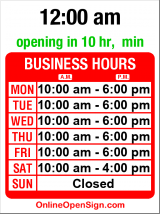 Business hours for Barone Engraving
