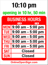 Business hours for Stewart Street Barber