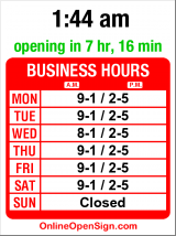 Business hours for Real Change