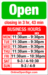 Business hours for Etta's Seafood