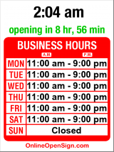 Business hours for Vios Cafe & Marketplace