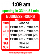 Business hours for H2O2