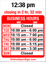 Business hours for Capitol Hill Vision