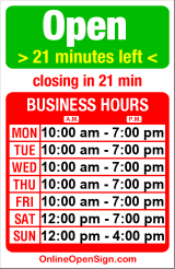 Business hours for Sage Cafe