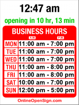 Business hours for E. E. Robbins