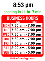 Business hours for Enterprise Rent-A-Car