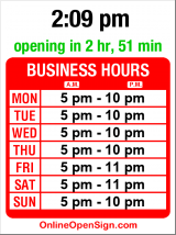 Business hours for Crow