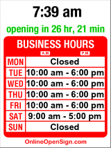 Business hours for Viva Skin & Hair Care