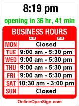 Business hours for Ramuta's Shoe Repair