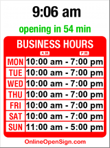 Business hours for Red Balloon Co.