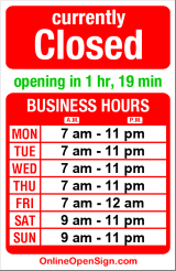 Business hours for Stewart St Market & Deli