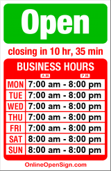 Business hours for Kenmore Air