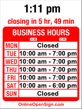 Business hours for Ducati Seattle