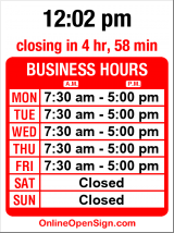 Business hours for Auto Hound Collision