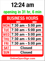 Business hours for Huletz Auto Electric
