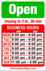 Business hours for Lake Union Sea Ray