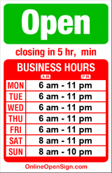 Business hours for Westlake Deli