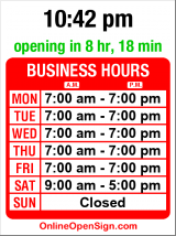 Business hours for Spotless Cleaners