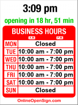 Business hours for Miss Madison's