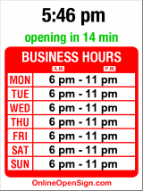 Business hours for Central Cinema