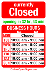Business hours for Cafe Selam