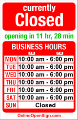 Business hours for Maggie's Shoes