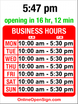 Business hours for Turkish Delight